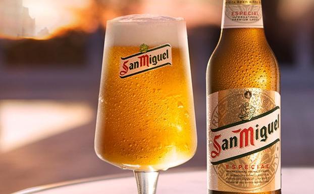 copa y botella san miguel especial - CERVEZA TIPOS VARIEDADES