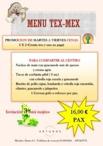 MENU TEX MEX 212x300 - OFERTAS RESTAURANTES SUSHI MADRID