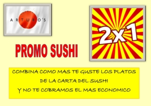 PROMO SUSHI 2X1 2 300x212 - OFERTAS RESTAURANTES COMIDA POLLO ASADO PARA LLEVAR MADRID