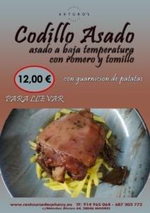 CODILLO ASADO ARTUROS 212x300 - OFERTAS RESTAURANTES COMIDA POLLO ASADO PARA LLEVAR MADRID